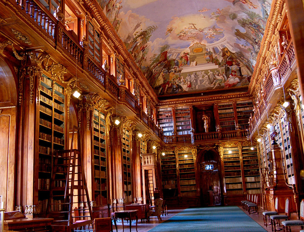 La bibliothèque du Monastère de Strahov | Curiosités de Titam