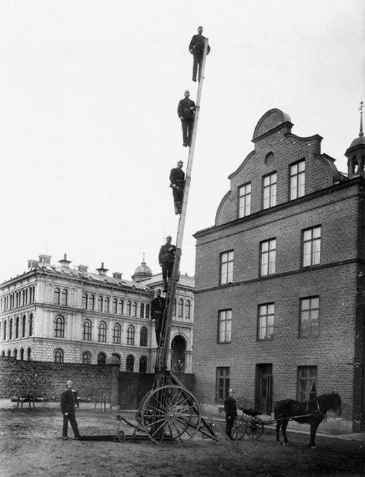 Firemen-on-a-ladder