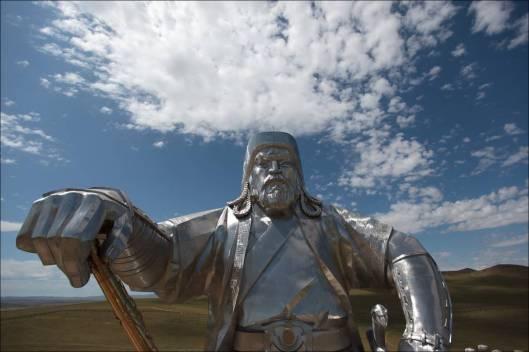 genghis khan Chinggis Khaan statue horse equestrian mongolia 5