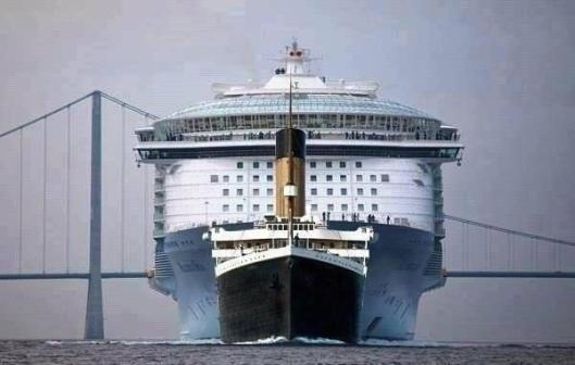 Titanic-vs-Modern-Passenger-Ship