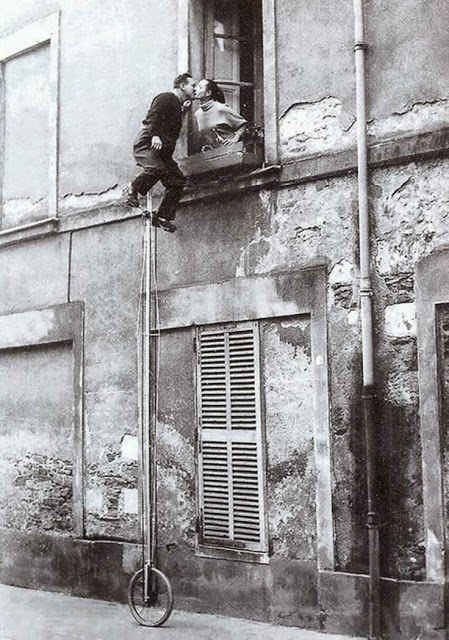 Unicycle Window Kiss, ca. 1950s