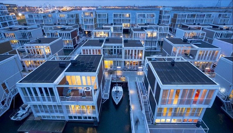 les maisons flottantes d ijburg amsterdam curiosit s de titam. Black Bedroom Furniture Sets. Home Design Ideas