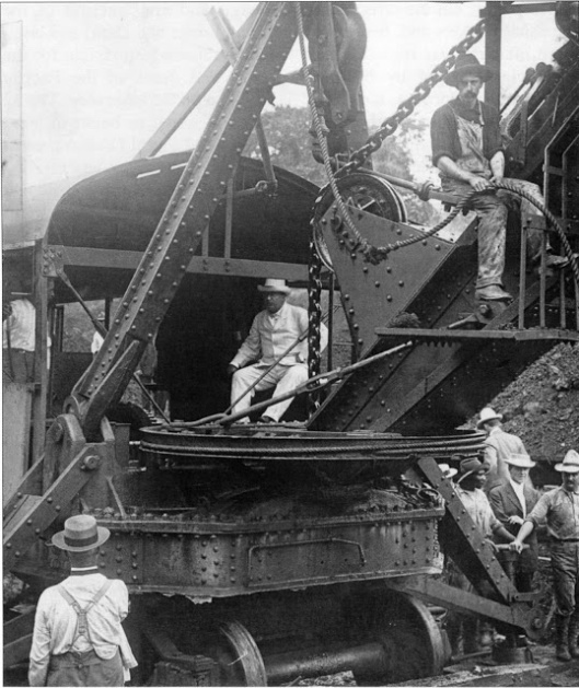 2. Theodore Roosevelt visiting the Panama Canal construction site, 1904