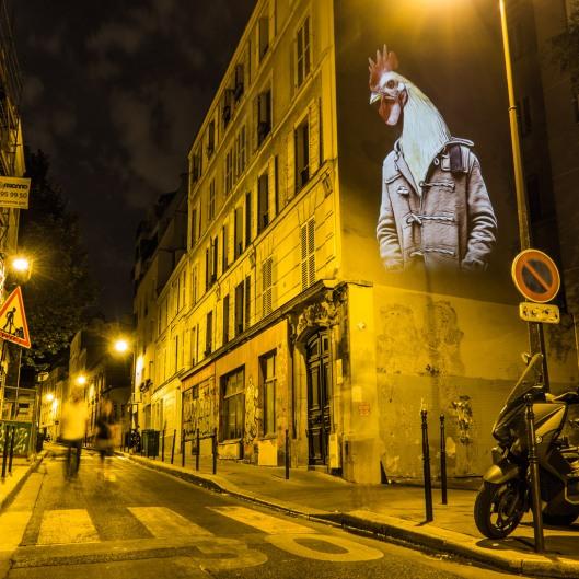 Le coq de la Mare, 32 rue de la Mare, 20ème arrondissement.