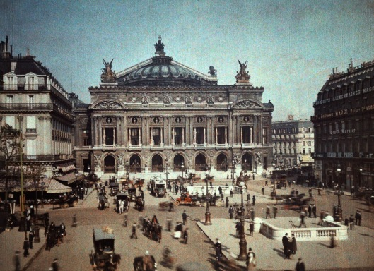 ca. January 1923, Paris, France --- The Opera house was built between 1761-1775 --- Image by © Gervais Courtellemont/National Geographic Creative/Corbis
