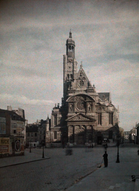 ca. January 1923, Paris, France --- A cathedral --- Image by © Gervais Courtellemont/National Geographic Creative/Corbis