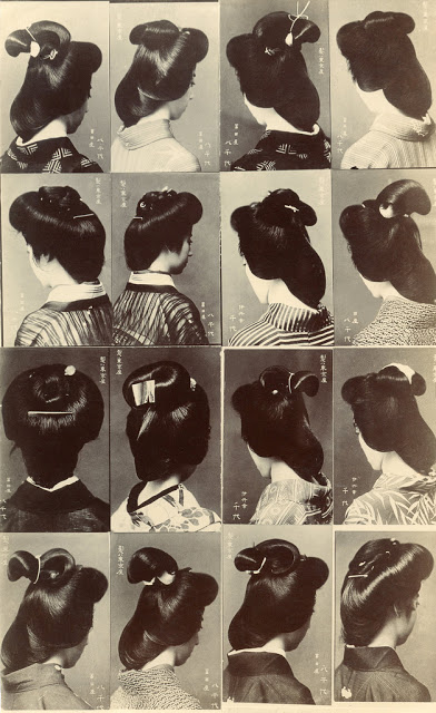 Japanese women's hairstyle, ca. 1910s