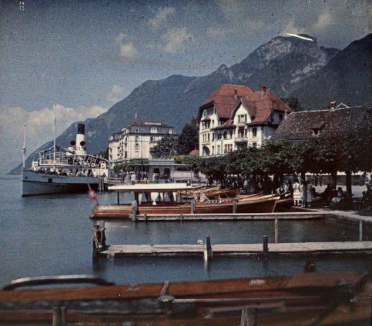 The dock in Brunnen, July 1927
