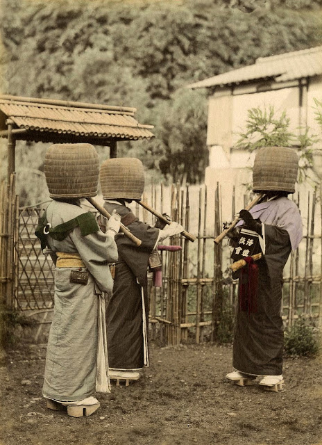Komuso monks, Japan, 1887