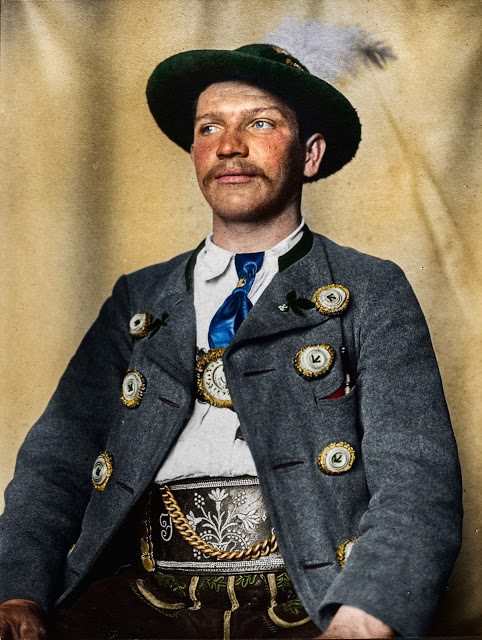 Portrait of a Bavarian man at the Ellis Island Immigration Station, circa 1905