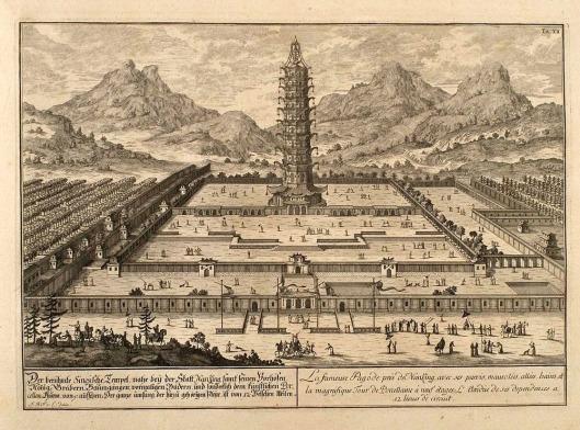 La tour de porcelaine (1665) par Johan Nieuhof