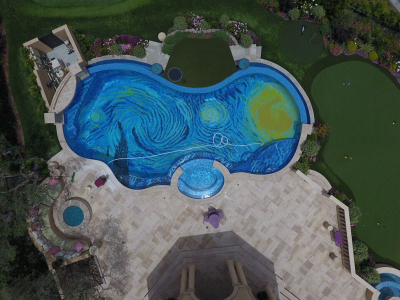 starry-night-pool-overhead-drone-tiled