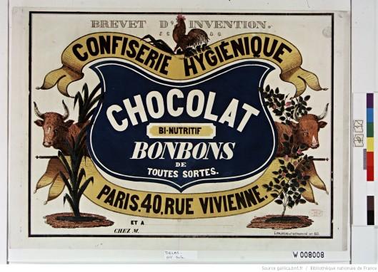 Brevet d'invention confiserie hygiénique chocolat binutritif, bonbons de toutes sortes. Source